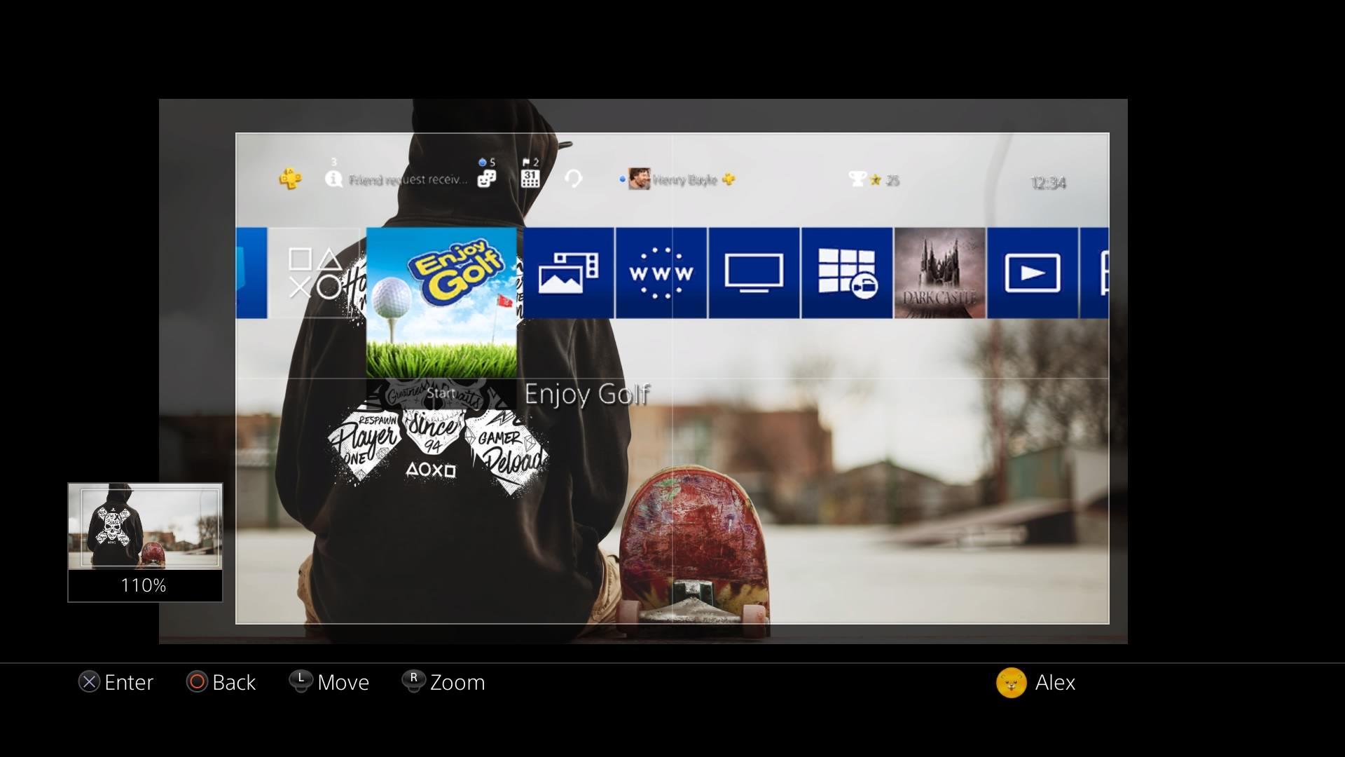Import Custom PlayStation 4 Wallpapers via USB